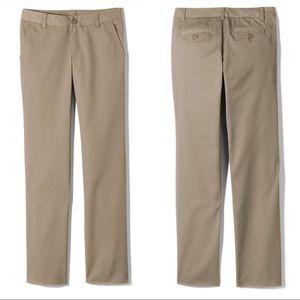 14S Slim Lands End Uniform Khaki Chino Pants Tall